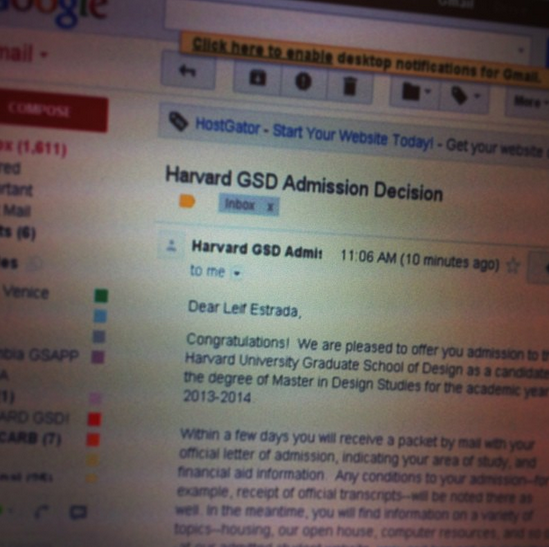 accepted harvard application essays